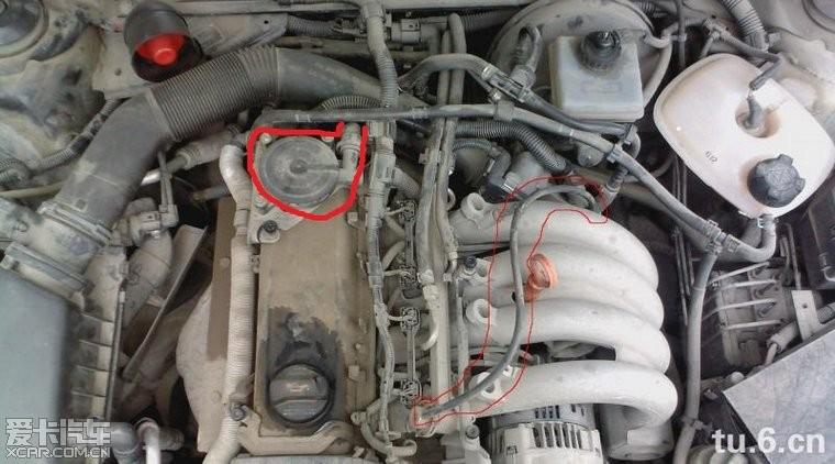 关于桑塔纳3000的曲轴箱通风管问题!图片