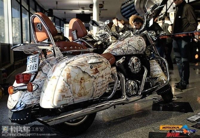 哈雷摩托车手绘