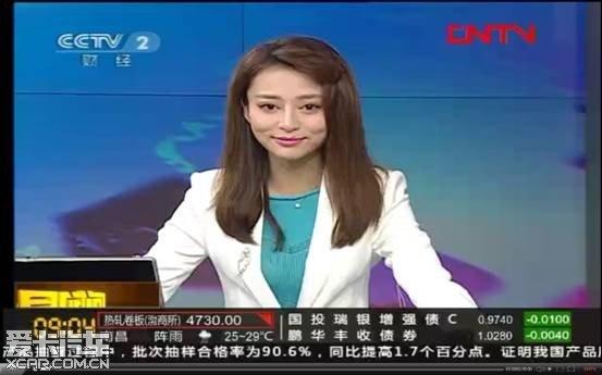 央视二套财经频道连线女主播