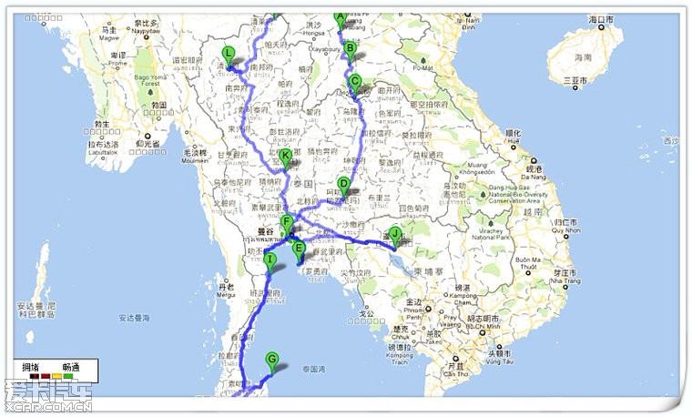 泰国老挝柬埔寨地图