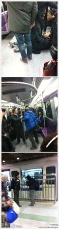 这次我要支持一下上海人:上海地铁,全车围殴不文明外地乘客。。。