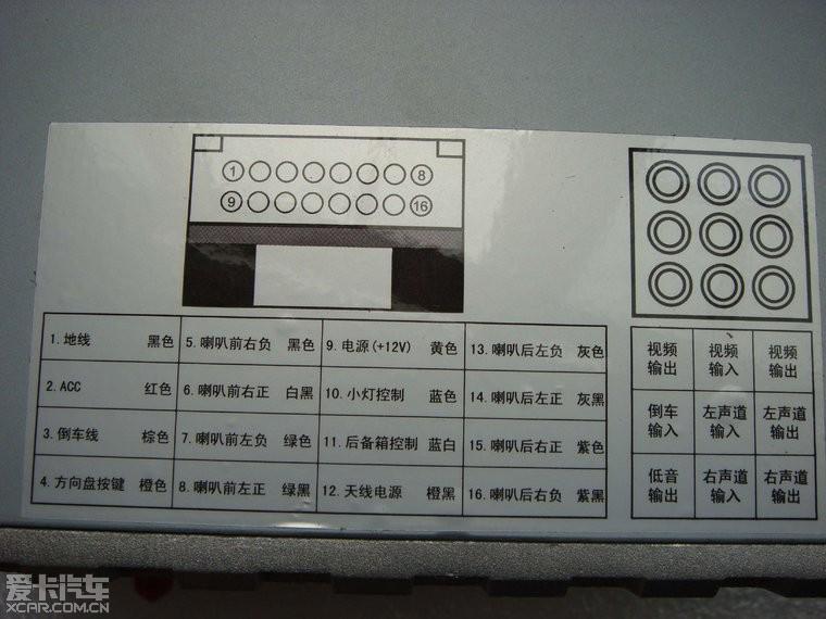 别克gl8收音机接线图