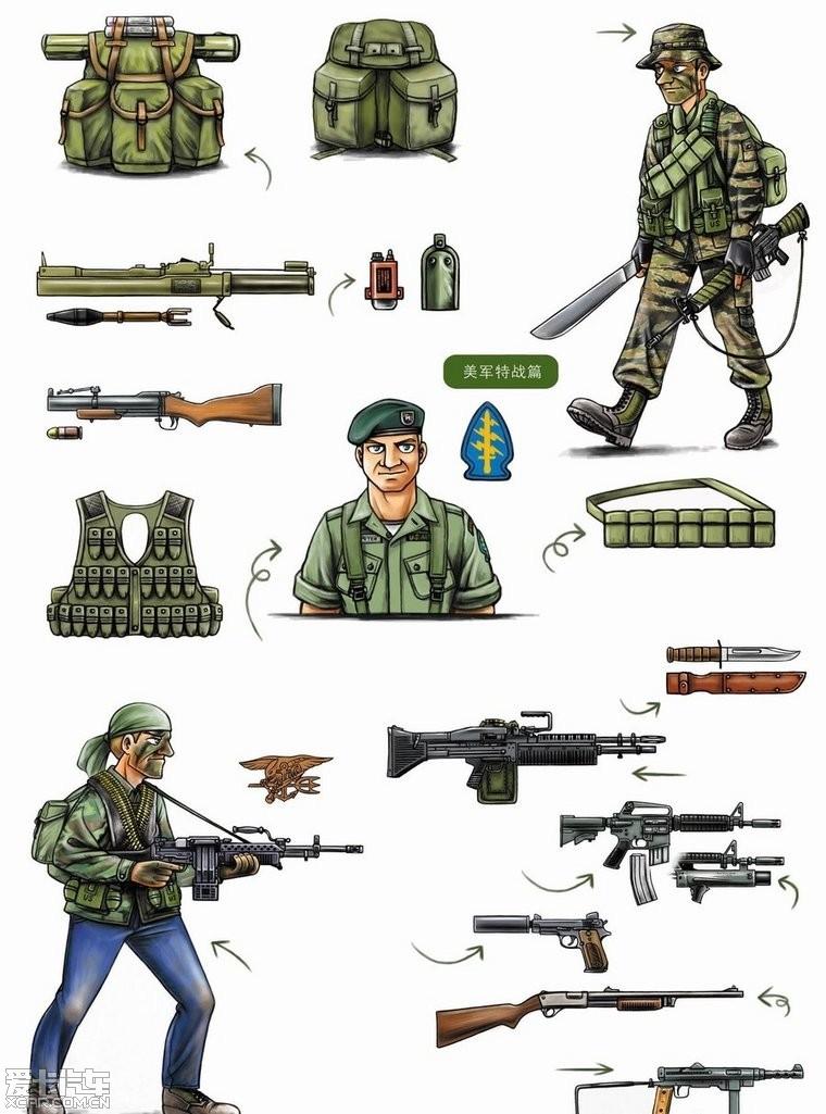 二战美军单兵弹药_二战美国陆军单兵装备
