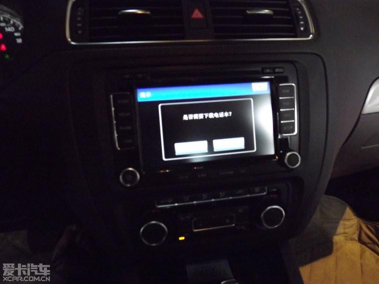 西安新款速腾加装 德赛西威NAV230MF 倒车影