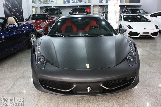 出售 法拉利458 italia 黑色高清图片