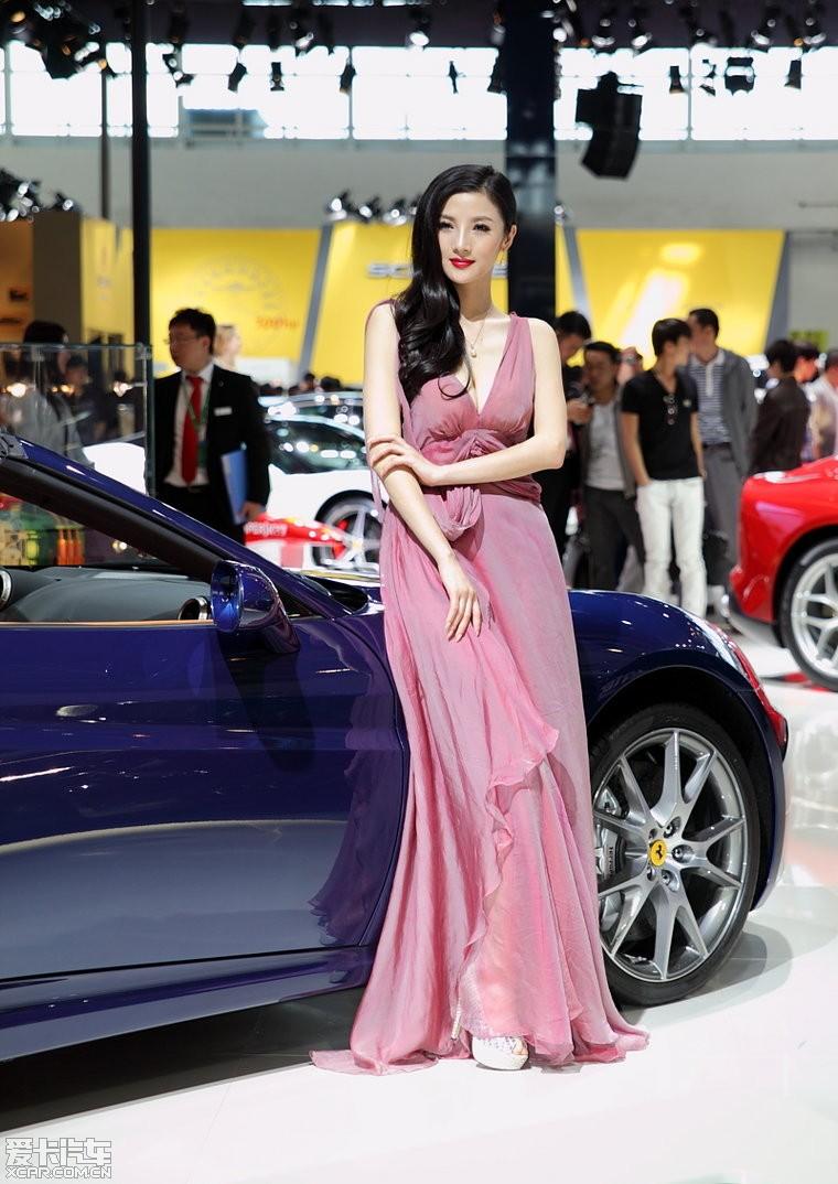 2012年北京车展,法拉利车模