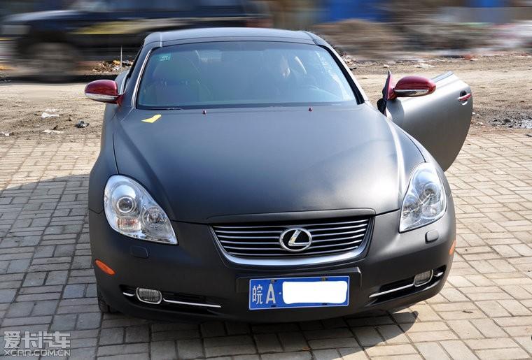 雷克萨斯 sc430 全车亚光黑改色贴膜 高清图片