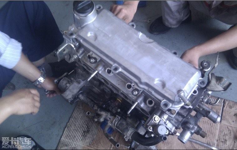 05老飞度1.5cvt 烧机油发动机大修记录作业 新鲜的