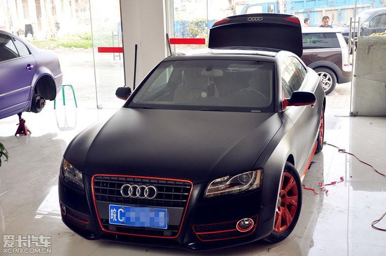 奥迪A5全车改色亚光黑-安徽技术优惠改装专比亚迪元360活动养护图片