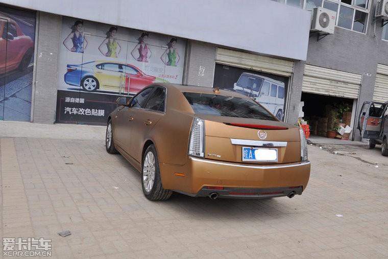 凯迪拉克改装全车金色高清图片