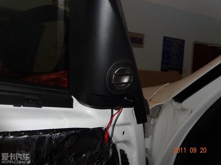 宝马3系汽车音响改装高清图片