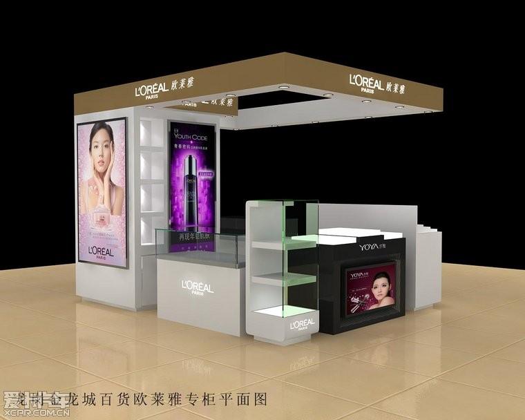 急需制作化妆品岛柜和前柜,玻璃柜