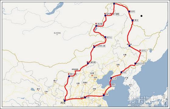湖)—长白山—丹东—大连—烟台(轮渡)—日照(经青岛)—开封—西安.