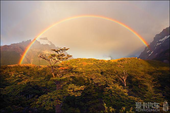 LD下班路上遇到风雨后的彩虹,拍照留念。_奇