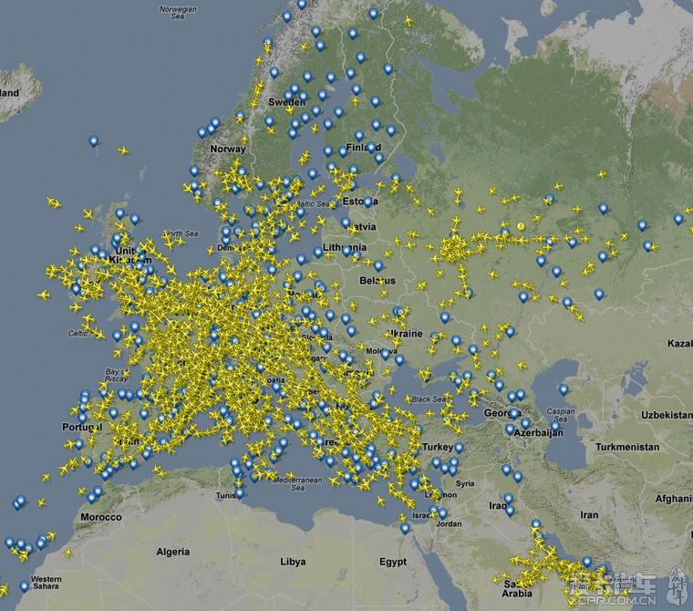 谷歌地图中国区航班跟踪(还有各国等等)