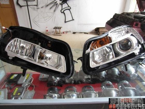 塘沽威酷专业汽车灯光 新君威升级q5双光透镜