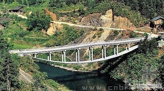 """桥面梁板结构既用于通车,又作为受压构件平衡拱的水平力(绝对的""""一石"""