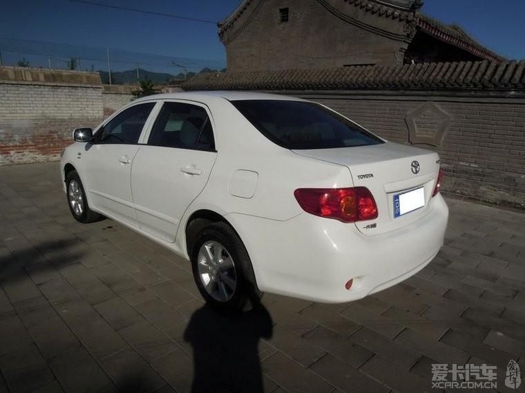 北京穿衣2008年攻略丰田卡罗拉1.6自动档-二拍照白色出售故宫图片
