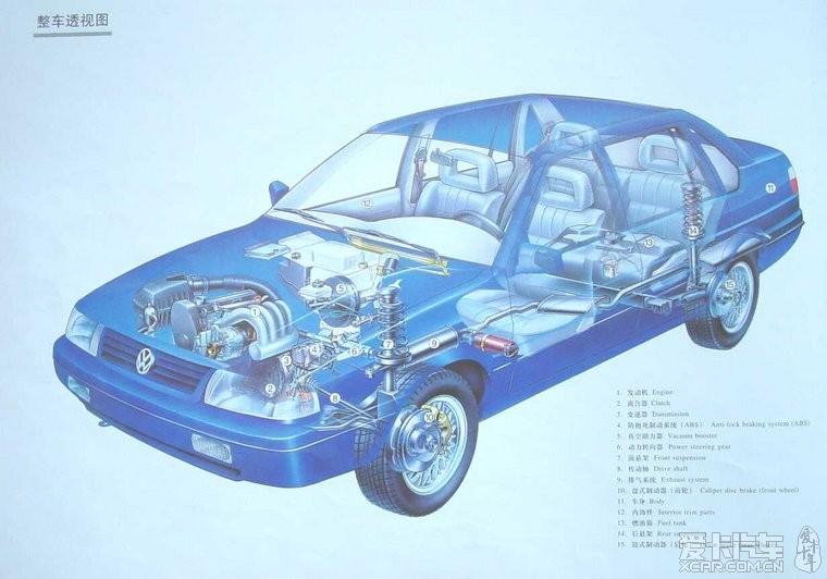 (申精)上海桑塔纳2000GSi轿车结构图册_桑塔