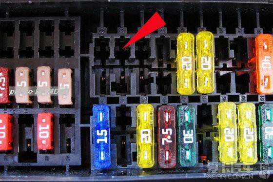 电动车保险丝在哪里 途安保险丝盒在哪里 面包车保险丝在高清图片