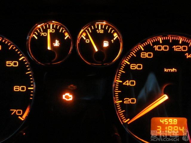 【这个灯亮是什么情况?发动机故障?】_标致307论坛