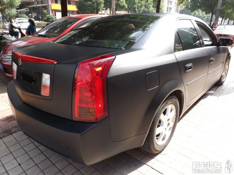 标题 凯迪拉克CTS车身改色贴膜,艾利亚光黑,高清实拍图欣赏高清图片
