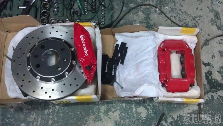 雨燕改装16寸轮毂 刹车弹簧 a6l透镜 飞龙排气及装饰 7高清图片
