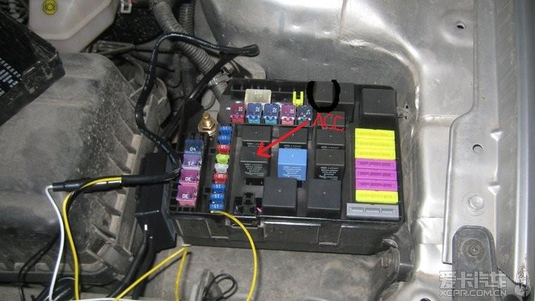 请教一下发动机舱保险盒里面哪个是acc!_和悦论坛