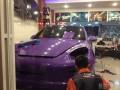 卡宴全车贴改色膜--珠光紫。