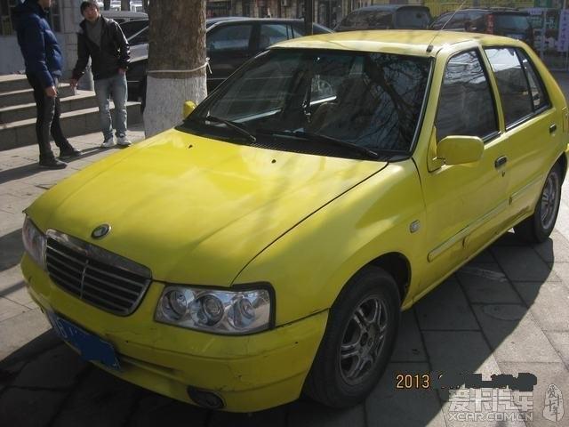 我的黄色小吉利美日 两厢 1.3排量,卖 车是我本人的昂