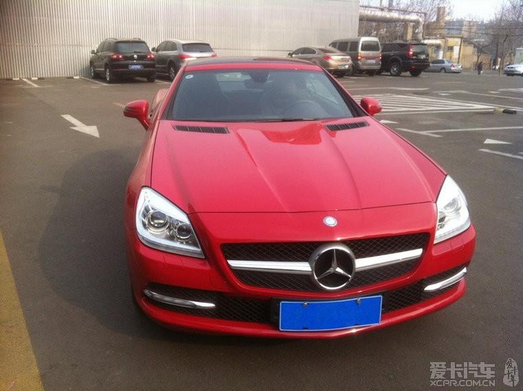 个人奔驰slk200 个人奔驰slk200,红色 12年新车,红色硬顶敞高清图片