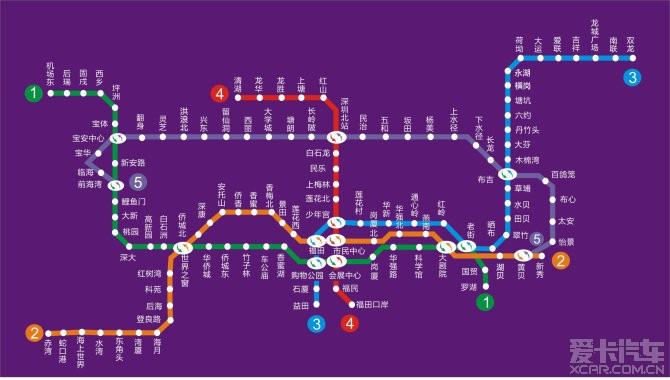 转个深圳地铁全图。_深圳汽车论坛_XCAR 爱