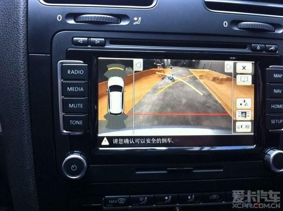 有图有真相 速腾可安装途观动态轨迹倒车影像系统 高清图片