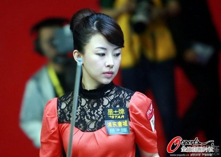 桌球美女潘晓婷 济宁论坛