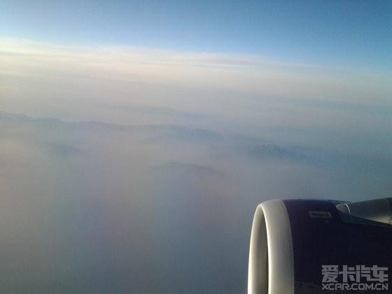 飞机上看到的北京雾霾