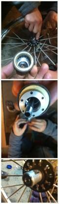 后轮组轴承寿终正寝,为了润度更换三个陶瓷轴承