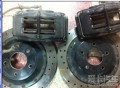 出马自达6改装件WILWOOD刹车套装和正品WORK轮圈