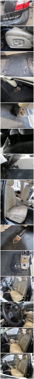 陆风X8手动布面座椅改装米黄真皮电动捷豹高配座椅16电动调节