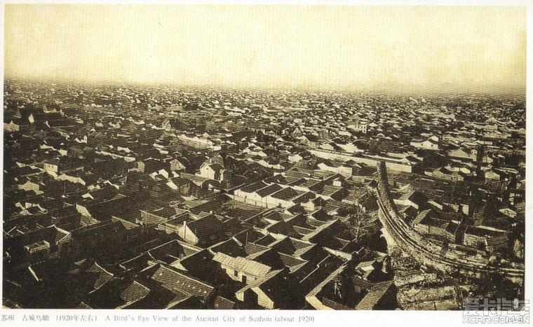 苏州古建筑鸟瞰手绘