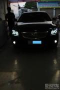 湛江凯美瑞前大灯升级博世6透镜氙气大灯+4天使眼+雾灯专用防水罩强劲车灯!