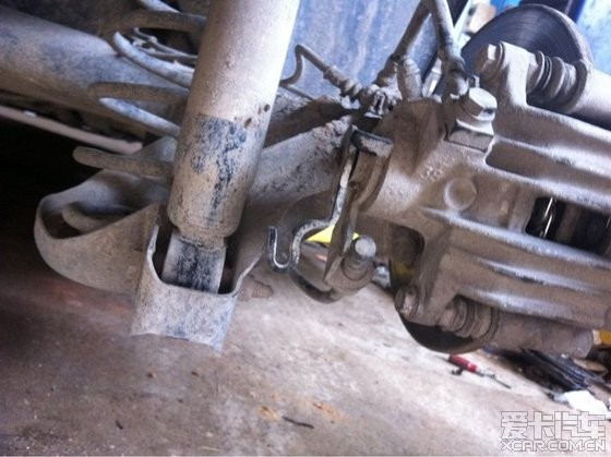 刹车盘磨不完整以及,后刹车分泵不回位