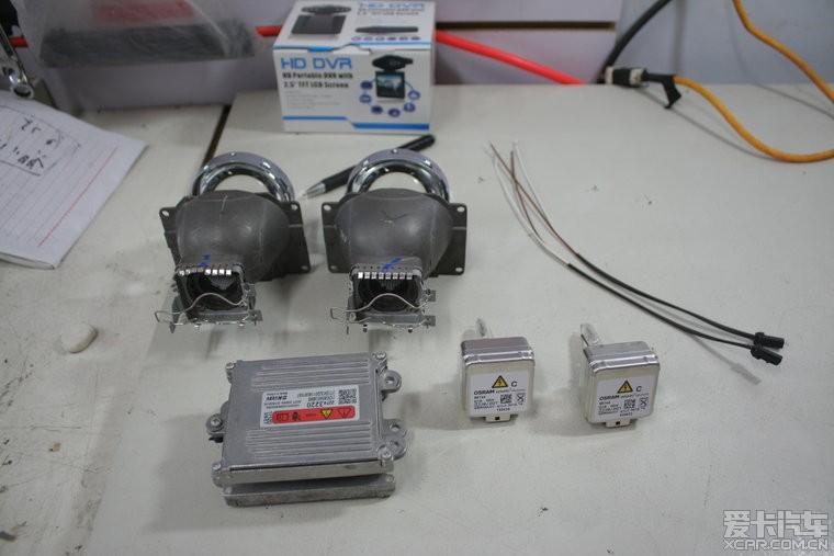 大众帕萨特b5改装奥迪q5双氙透镜高清图片