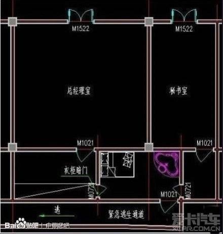 > 这是总经理和女秘书办公室的平面设计图,大家来看下要的不?图片