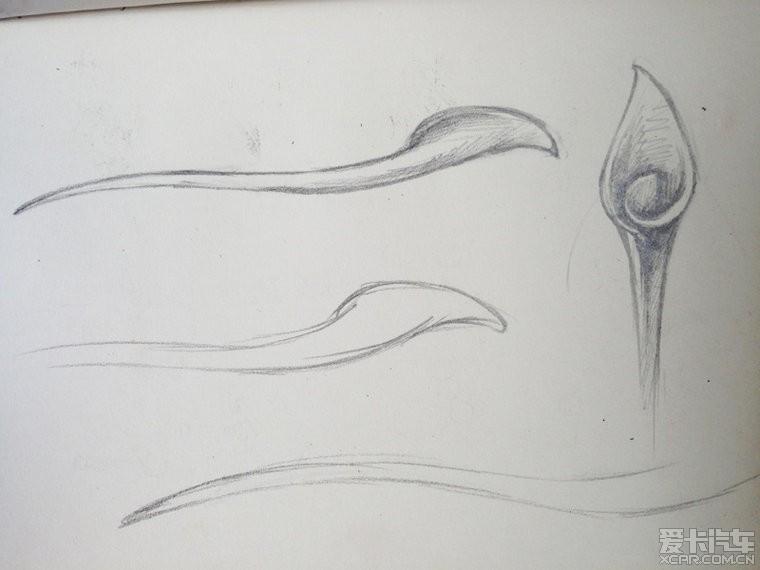 古代发簪设计图素描