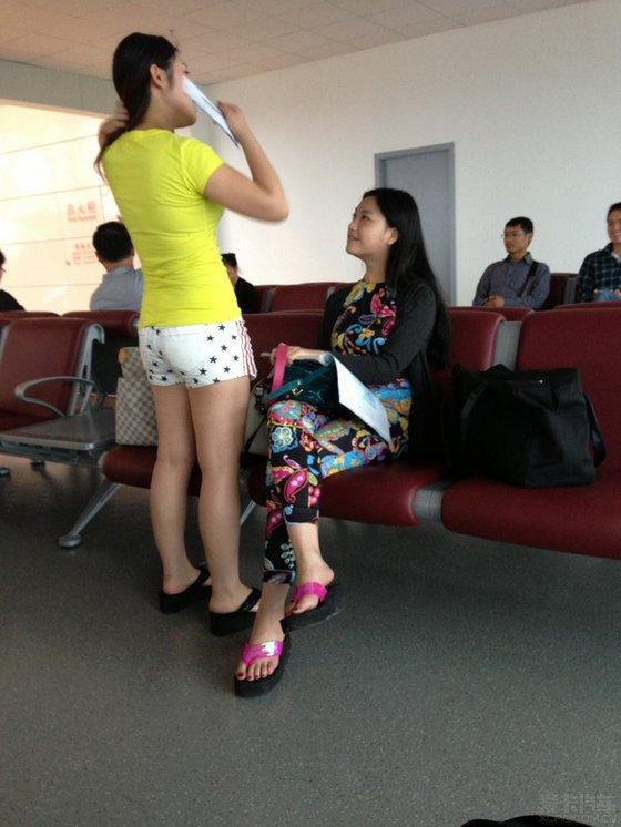 机场遇美女 酒店拍牛车