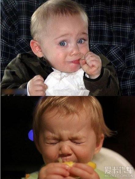 > 小孩吃到酸的样子太可爱了~!