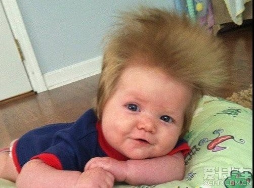 """最""""奇葩""""的婴儿狂野发型"""