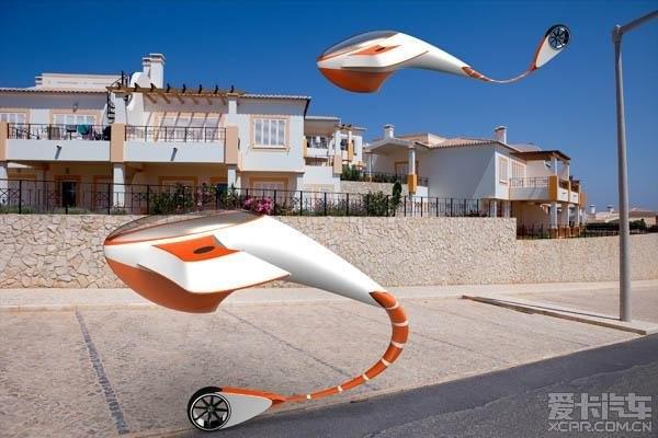 酷似鲨鱼的未来世界科幻汽车设计