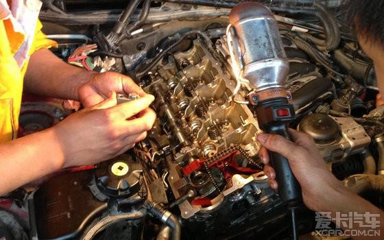 【求精】交个宝马1系120i n46发动机不开缸换气门油封