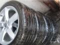 帮朋友出一套福克斯改装轮毂+轮胎!!奥迪A8L款式的!